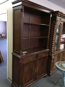 Handsome Flame Mahogany Bookcase matches partner desk