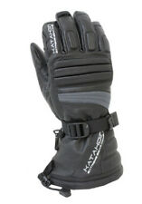 Katahdin Gear 84183803 Torque Leather Snowmobile Gloves MED Grey