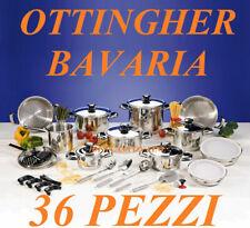 BATTERIA DI PENTO BAVARIA OTTINGHER BATTERIA DI PENTOLE 36 Pz.ALTA QUALITA NUOVA