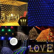 96/200/880LEDs Net Mesh Curtain Fairy String Light Xmas Wedding Party Home Decor