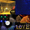Christmas Lights 880 LEDs Fish Net Mesh Fairy String Curtain Wedding Party Decor