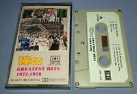 10CC GREATEST HITS 1972-1978 GMR LABEL cassette tape album
