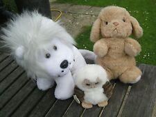 Set di 3 giocattoli morbidi, qualità & in buone condizioni, Lion, Cane, Gufo