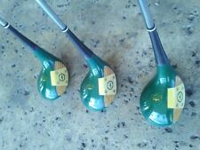 PGA Crown Vintage Green Jacket Persimmon Woods 1,3,5 Professional Approved Woods