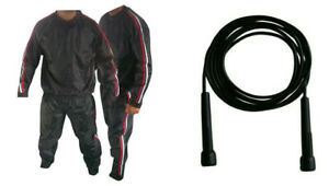 Heavy Duty Sauna Suits Gym Suit Anti Rip Weight Loss Exercise Fitness with Rope