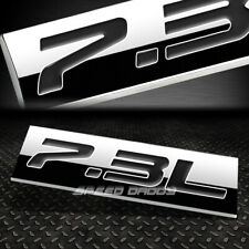 METAL EMBLEM CAR BUMPER TRUNK FENDER DECAL LOGO BADGE CHROME BLACK 7.3L 7.3 L