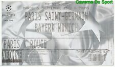 TICKET MATCH PARIS SAINT-GERMAIN PSG Vs BAYERN MUNCHEN CHAMPIONS LEAGUE 2000