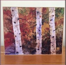 AUTUMN TREES PRINT ON CANVAS WALL ART BY DEAN CROUSER FREE U.S. SHIPPING