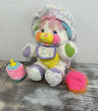 POPPLES Baby Bibsy! *VINTAGE 1986* Bottle/booties/bib Included! Rattle Pink Tail