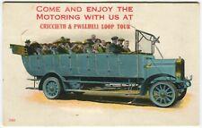 More details for criccieth & pwllheli pull out, charabane, bus -caernarvonshire novelty postcard