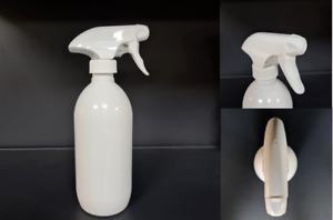500ml PET Empty Plastic Gloss White Trigger Bottle Cleaning Spray Garden Water