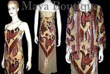 Silk Beaded Burnout Velvet Flapper Dress M & Jacket 2pcs Set Maya Matazaro