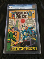 1970 World's Finest #191 CGC 9.4 NEAR MINT WHITE Pages Krypton Execution!