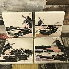 American Cars Classic Marble Coasters   FATHERS DAY