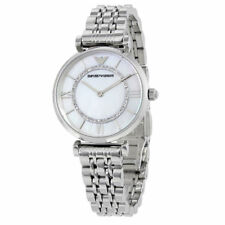 NEW Emporio Armani AR1908 Gianni T-Bar Silver Stainless Steel Ladies Girls Watch