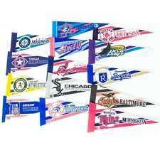 "MLB Pennant Lot 9"" Small 14 Baseball Teams 1997 Major League Rangers Athletics"
