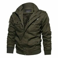 Mens Thicken Winter Tactical Jacket Army Military Outdoor Coat Windbreaker