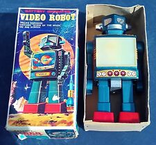 Horikawa japón robot video robot OVP original box Tin Toy chapa juguetes Rare