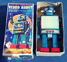 Horikawa Japan Roboter Video Robot OVP Original Box Tin Toy Blechspielzeug Rare