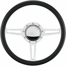 Billet Specialties 30137 Steering Wheel Polished Aluminum 14 in Diameter 3 Spoke