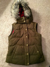 Jack Wills University Outfitters Thornaby Gilet Hooded Vest US 6 UK 10 Glade Gr