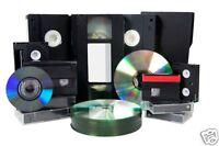 2 X VHS/VHS C/8mm/Hi 8/Digital 8/Mini DV TO DVD DISK - 2 Tapes To DVD Transfer