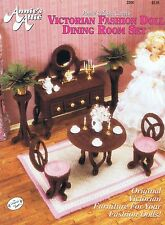 Fashion poupée (barbie etc.) salle à manger en plastique toile cross stitch chart