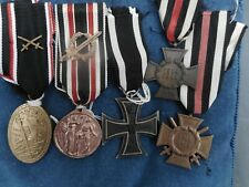 WW1 German original medals collection including Iron Cross