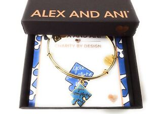 Alex and Ani Charity By Design You Complete Me Bracelet Shiny Gold NWTBC