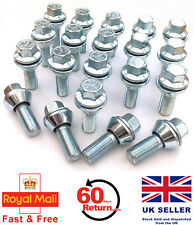 20 x alloy wheel M14 x 1.5 bolts variable PCD 5x112, 5x110, 5x114 for Audi