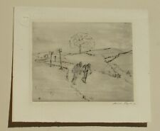 ARIES FAYER Listed Hungary/California Figures Walking Etching