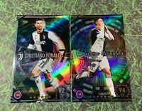 Panini Footista Cristiano Ronaldo set Juventus FC refractor card WCCF