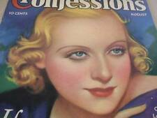 August 1934 True Confessions Magazine Carole Lombard Cover & Story