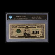 US Gold Banknote 1928 Year 10000 Usd Commemorative Note Paper Money with COA