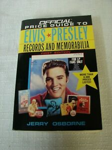 Official Price Guide To Elvis Presley Records & Memorabilia 1st Ed. 1994 Osborne