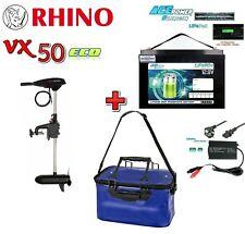 👌 Rhino VX50 ECO  + 12V 80Ah Lithium LiFePO4 Akku + 10A Charger + Akku Tasche