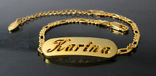 KARINA - Bracelet With Name - 18ct Yellow Gold Plated - Gifts For Her - Fashion