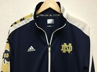Notre Dame Adidas Climalite Poly Full-Zip Warmup Jacket S Small Navy Blue nwot!