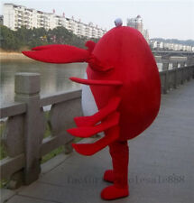 Red Crab Mascot Costume suits Interesting Party dress Adults Size Advertising A