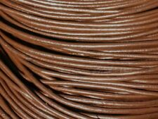 5 mètres - Cordon Cuir Véritable Marron Chocolat 2mm   4558550016751
