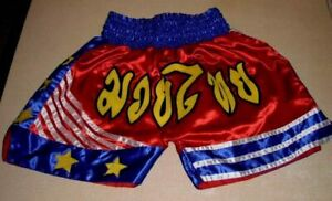 Fancy Thai Shorts Muay Mma Boxing Kick Grappling Fight Martial Arts Gym Trunks