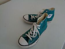 Converse All Star High Top Turquoise Canvas Athletic Sneaker Youth Size 2
