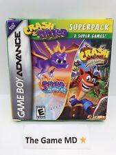 Crash & Spyro Season of Ice Superpack (Game Boy Advance) CIB Tested Working