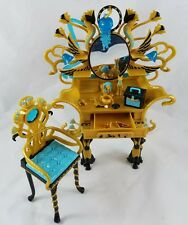 Monster High Cleo de Nile Vanity with Chair & Accessories Doll House Furniture