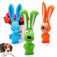 Dog Puppy Durable Chewing Biting Toy Squeaky Latex Squeaker Funny Play Toys