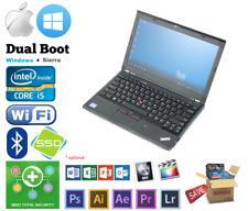 "Lenovo X230 12.5"" Intel Core i5 3.2GHz 8GB 1TB, SSD Win + Mac Sierra, Hackintosh"