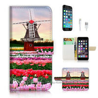 ( For iPhone 6 / 6S ) Wallet Case Cover! P1908 Flower Farm