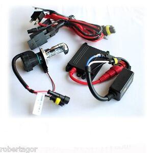 Set Bixenon für Motorrad Bi Xenon Lampe H4 6000 K 45W ECU Slim Verdrahtung