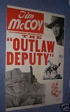 Original OUTLAW DEPUTY Tim McCoy 1935