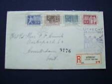 FDC E10 ITEP zegels 592-595 op gewone brief